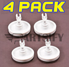 4 PACK NEW 154174401 DISHWASHER LOWER RACK WHEEL & CLIP FOR FRIGIDAIRE KENMORE