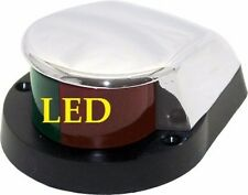 LARGE LED BOAT NAVIGATION BOW LIGHT RED & GREEN- ZAMAK SHORELINE MARINE