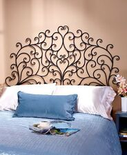 King Size Scrolled Metal Wall-Mount Headboard Bed Bedroom Living Room Decor