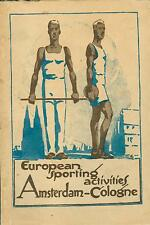 Guidebook European Germany Sporting Activities Olympics Amsterdam Cologne 1928