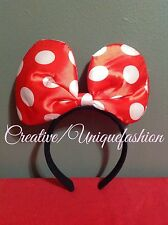 DISNEY MINNIE MOUSE HEADBAND RED BOW POLKA DOT PARTY BIRTHDAY KID ADULT GIFTS
