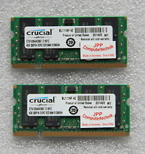 8GB 2x 4GB Speicher Laptop Notebook RAM DDR2 667Mhz So-Dimm PC2-5300S 200Pin CL5