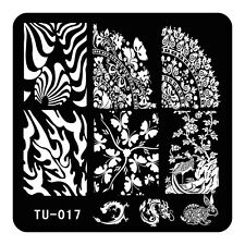 HOT Manicure TU Nail Stamping Plate Stainless Steel Nail Art Stamp Template T-17
