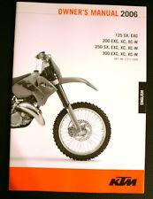 Manuel d'utilisation KTM 125/200/250/300 SX XC XC-W EXC 2006  3.211.72EN