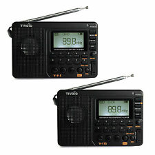 2X New Portable FM/AM/SW Radio+mp3 player+REC Recorder DC 5V Free ship +Track no