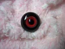 ~ SoLiD RoUnD GLaSs EyEs 22MM ReD & BLaCk ~ REBORN DOLL SUPPLIES