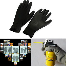 1Pair PU Palm Coated Coating Protective Safety Anti Static Builders Work Gloves~
