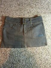 WOMENS GREEN DENIM ONEILL SHORT MINI SKIRT SEE PICS FOR SIZING Kd1