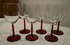 6 Ruby Red Stem 11oz Wine Glasses EXCELLENT CONDITION!
