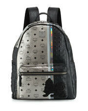 Brand New MCM Munich Lion Black & Silver Leather Backpack $ 1,295 SOLD OUT!!!