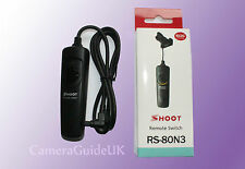 Camera Shutter RS-80N3 Remote Control Cable for Canon EOS 5D 5Ds, 5Ds R, 6D 7D