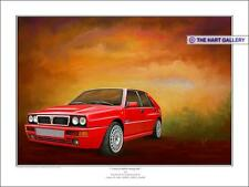 Lancia Delta HF  Integrale Classic Car Art Limited Edition Signed Print Picture