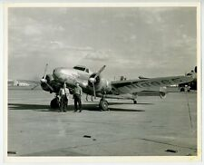 Vintage 8x10 Photo~Lockheed Model 12 Electra Junior on airfield, plane, m14724