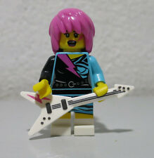 Rocker Girl Series 7 Guitar Pink Hair GEM GLAM Lego mini figure minifigure fig