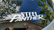 STEEL PANTHER decal vinyl car sticker WHITE album logo. NiCE!!