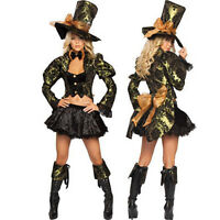 Mad Hatter costume womens adult Alice In Wonderland Outfit halloween Sexy Dress