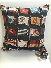 Authentic New HINES OF OXFORD ENGLAND FINE TAPESTRY PILLOW CUSHION FLAGS 16""