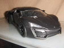 Toy Jada / Dub Diecast 1:24 Mat Black Lykan HyperSport car Hot Rod Fast Furious