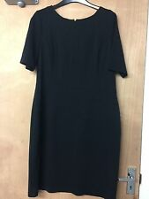 ELLEN TRACY SIZE 14 BLACK LADIES PANNELED LINED FITTED DRESS 5F