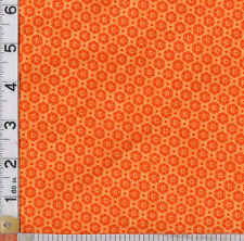 PATCHWORK/CRAFT FABRIC STOF TWO TONED ORANGE FLORAL 4517-205 100% COTTON