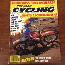POPULAR CYCLING MAGAZINE OCTOBER 1977 HUSKY 250 CR YZ MX NATS VINTAGE MOTOCROSS