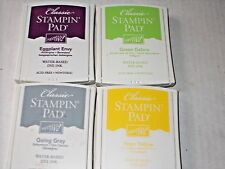 LOT of 4 STAMPIN' UP RETIRED CLASSIC WATER-BASED INK PADS VGUC