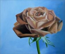 Giant single Rose, Hand Painted Oil Painting 20x24in