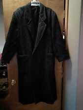 Mens' Long Wool Blend Trench Coat Size 42R