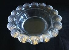 Lalique 'Pornic' Scallop Design Frosted Crystal Glass Bowl, signed