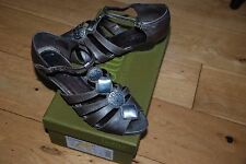 Ladies Hotter Pewter Leather Sandals Size UK 4.5 Eur 37.5 No Box