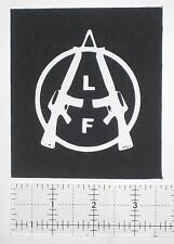 Animal Liberation Front Patch ALF Punk Crust Vegetarian Crass Icons of Filth DIY