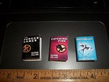 SET OF 3 - HUNGER GAMES  BOOKS -- DOLL HOUSE MINIATURE