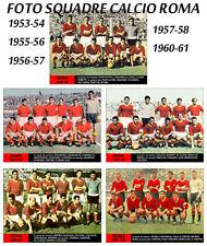VENDO 5 foto formato cartolina squadra del ROMA