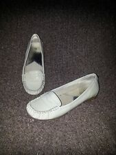 MICHAEL KORS Cream/Beige Patent Leather Penny Loafer Flats-Size 7.5M-GUC