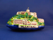 Alcatraz Prison San Francisco Calif Glass Christmas Tree Ornament Travel 011128
