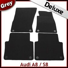 Audi A8 / S8 (2003 2004 2005...2009 2010) Tailored LUXURY 1300g Car Mats GREY