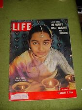 LIFE MAGAZINE FEBRUARY 7 1955 HINDUISM GRACE KELLY MICKEY ROONEY FORMOSA BARNEY
