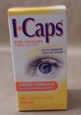 Alcon I Caps Eye Vitamin and Minerals AREDS Formula 120 Coated Tablets Exp 12/16