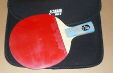 DHS Table Tennis Paddle/Bat/Racket: 6 Star 6005,One Pips-in rubber, Penhold