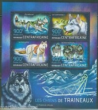 CENTRAL AFRICA  2013 SLED DOGS  SHEET MINT NH