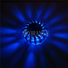 16 LED Light Round Beacon Emergency Strobe Flashing Warning flare lamp Van Blue