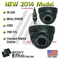 2 X VARIFOCAL OUTDOOR DOME 36 IR 800TVL SECURITY CAMERA CCTV INFRARED