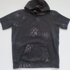 Nike Men Jordan XXX Blackcat Short Sleeve Hoodie 706565 - Black 010 - 2XL - NWT