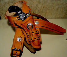 CUSTOM WESTERN HOLSTER  GUNBELT MADE JOHNNY RINGO HOLLYWOOD REPLICA
