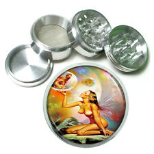 Boris Vallejo Nude Fairies Metal Silver Aluminum Grinder D127 63mm Herb Spices