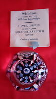 A L/E WHITEFRIARS ,SILVER JUBILEE - QE11 ,MILLEFIORE PAPERWEIGHT WITH CERTIFCATE