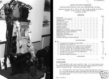 Martin Baker Mk 2 mk2 Ejection Seat Parts Manual Service historic period archive