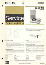 Philips Service Manual für 22 GF 113