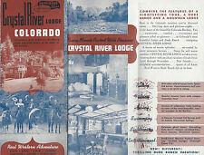 Crystal River Lodge & Dude Ranch Colorado 1947 Brochure Rocky Mountains