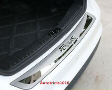 Stainless Steel Outer Rear Bumper Sill Protector Cover For Ford Focus Mk3 Sedan
